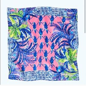 LILLY PULITZER Pecking Order Silk Scarf